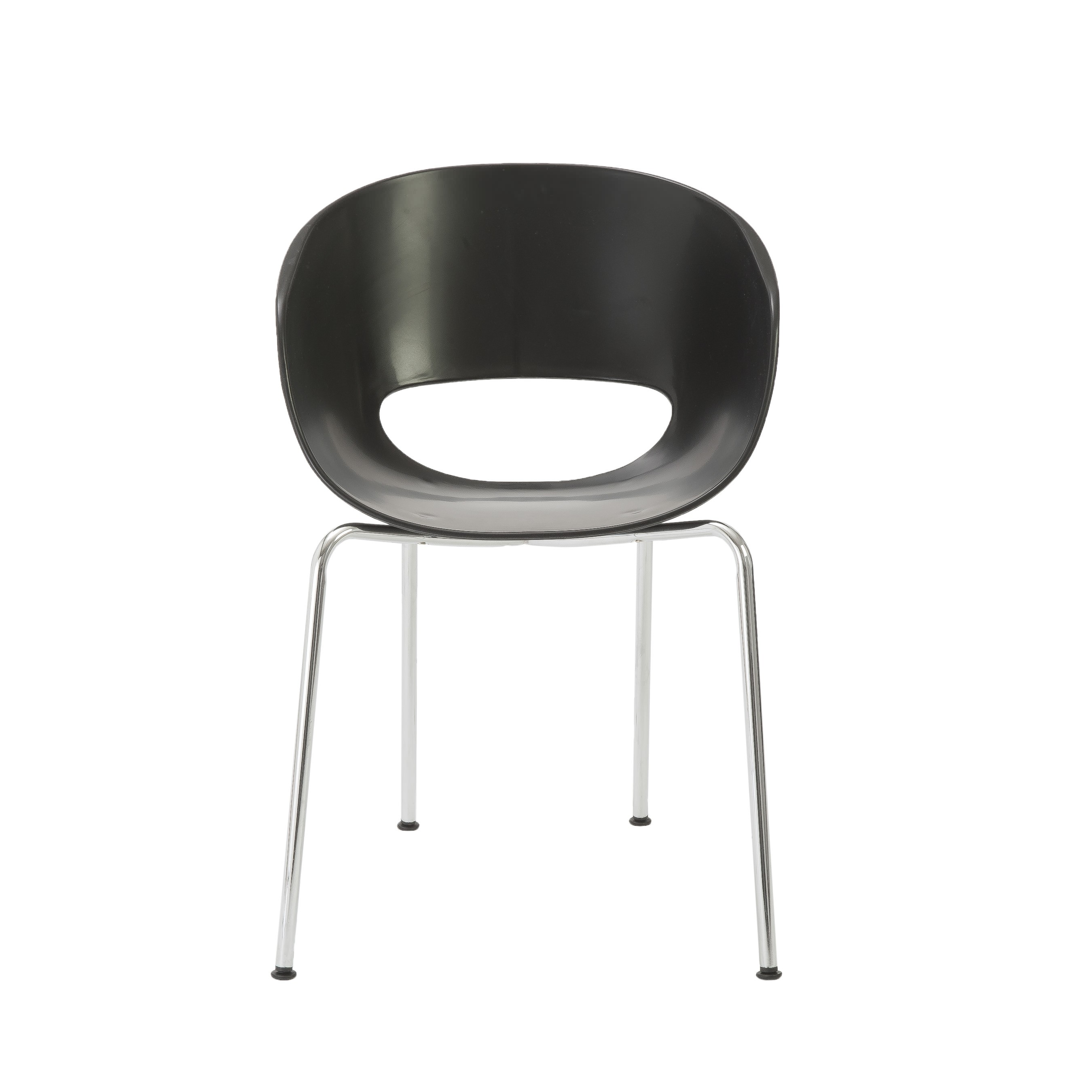 Michele side chair black/chrome set of 2