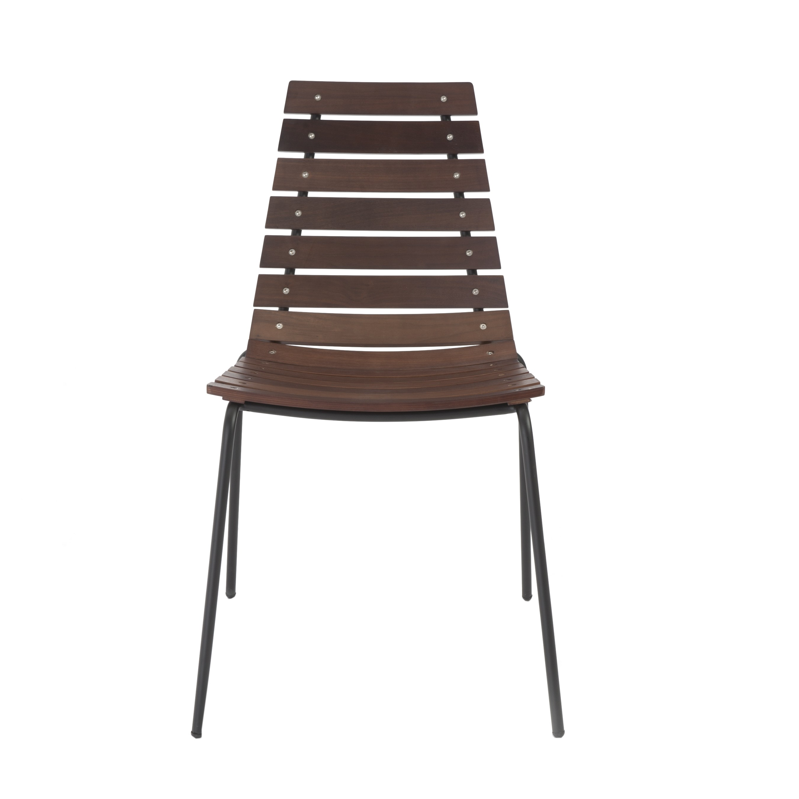 Siari walnut and white side chair - set of 2