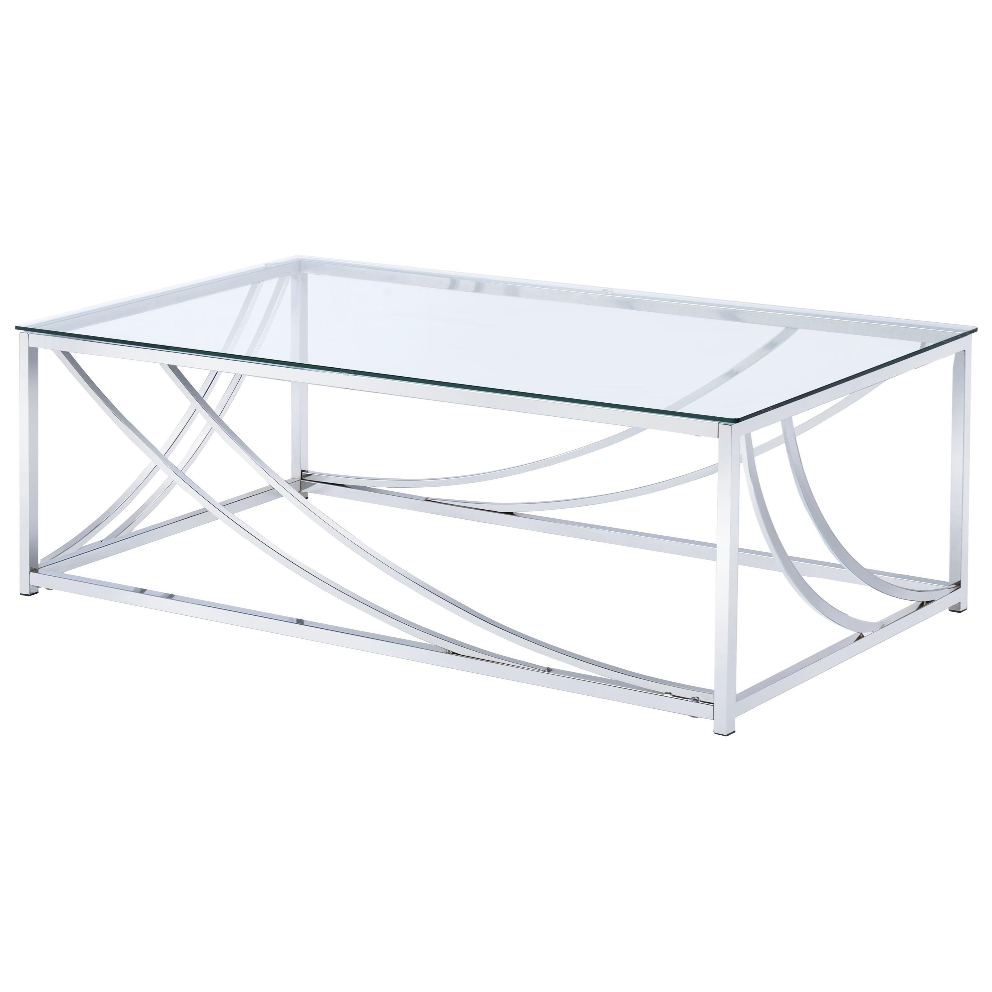 720498 modern glass top cocktail table