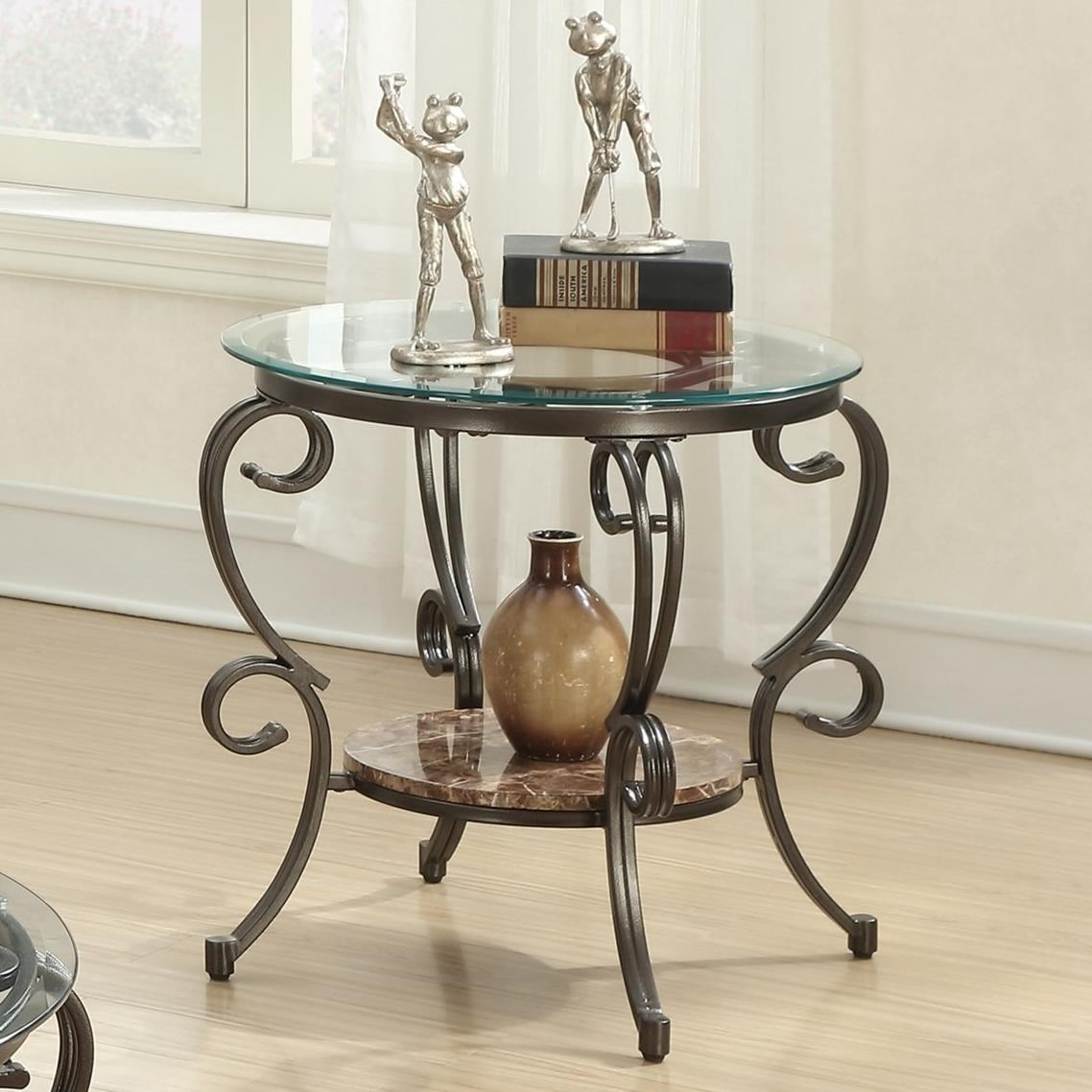 705147 gertrude end table with faux marble shelf