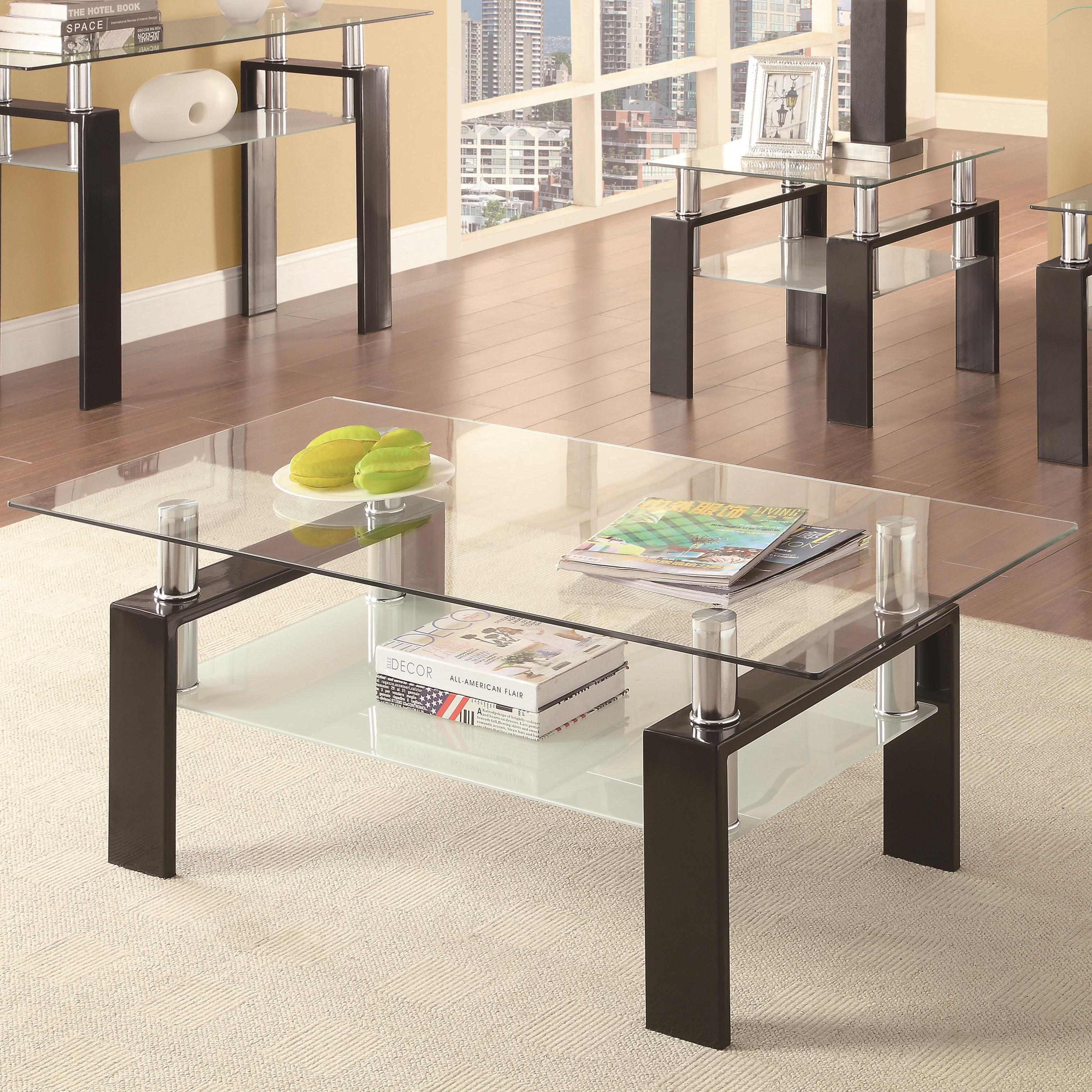 702288 tempered glass coffee table