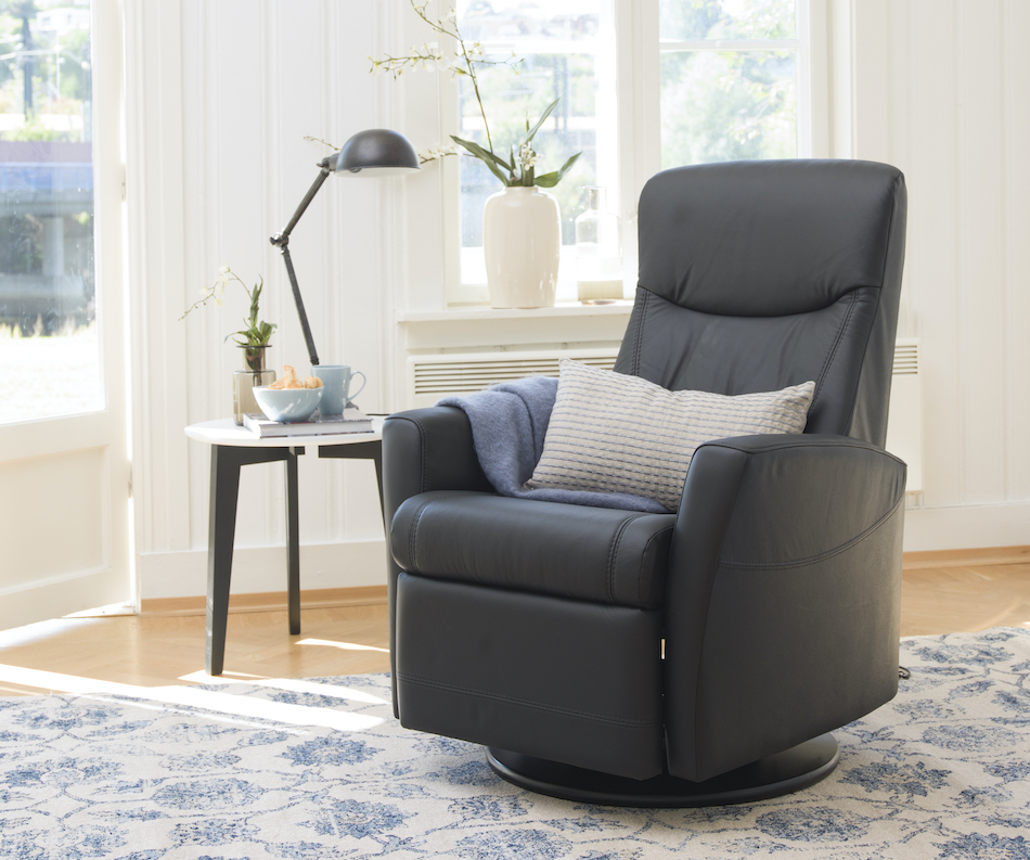 Fjords oslo power swing recliner nl 101 black small