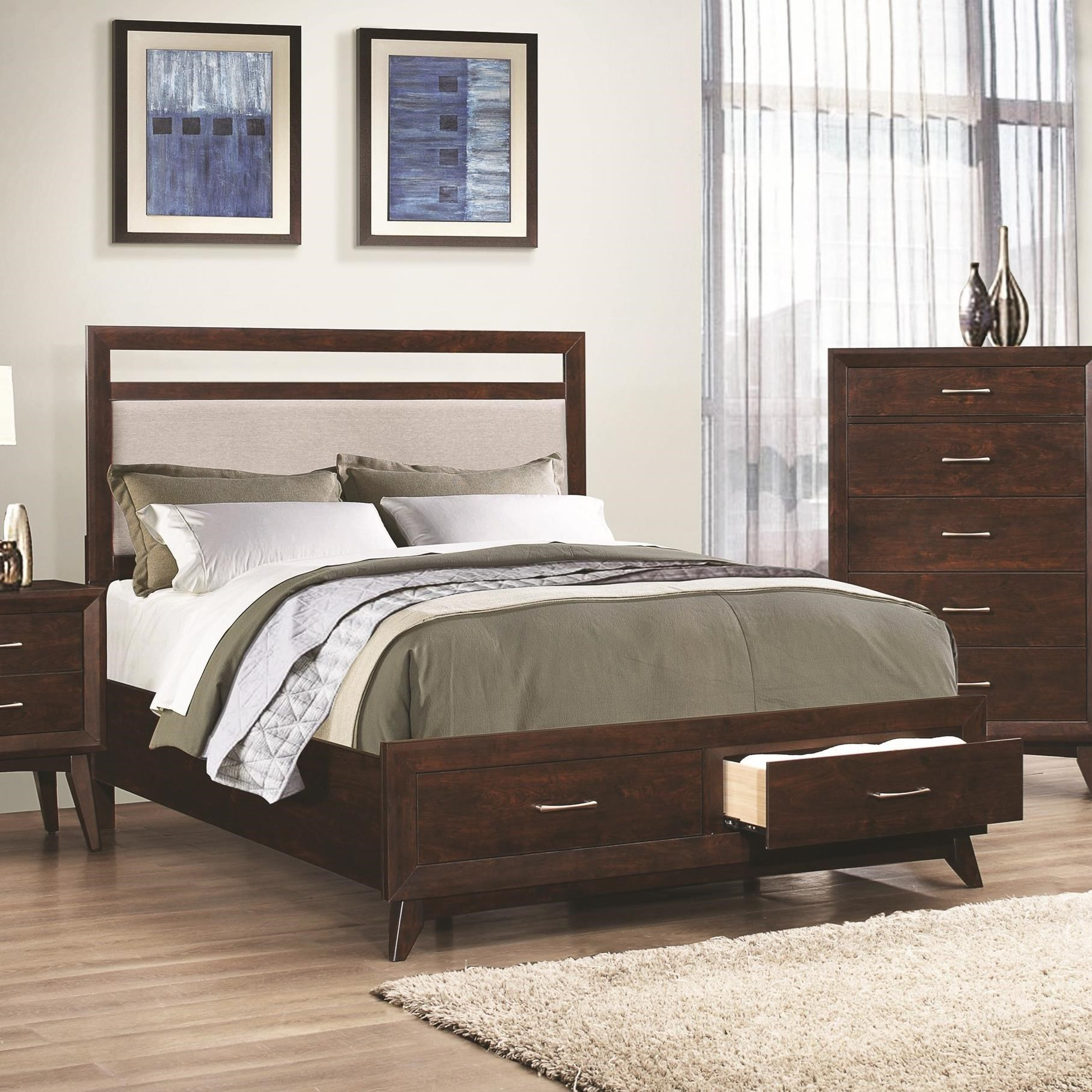 4 pc queen set, carrington (bed, dresser, nightstand, mirror)