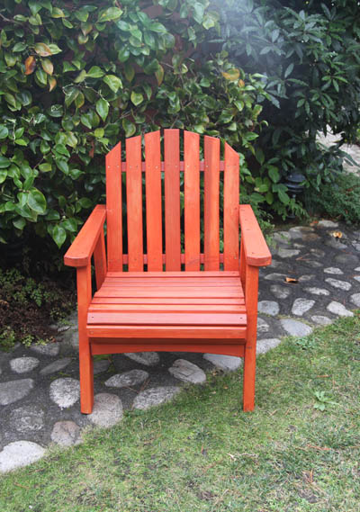 Redwood out door chair