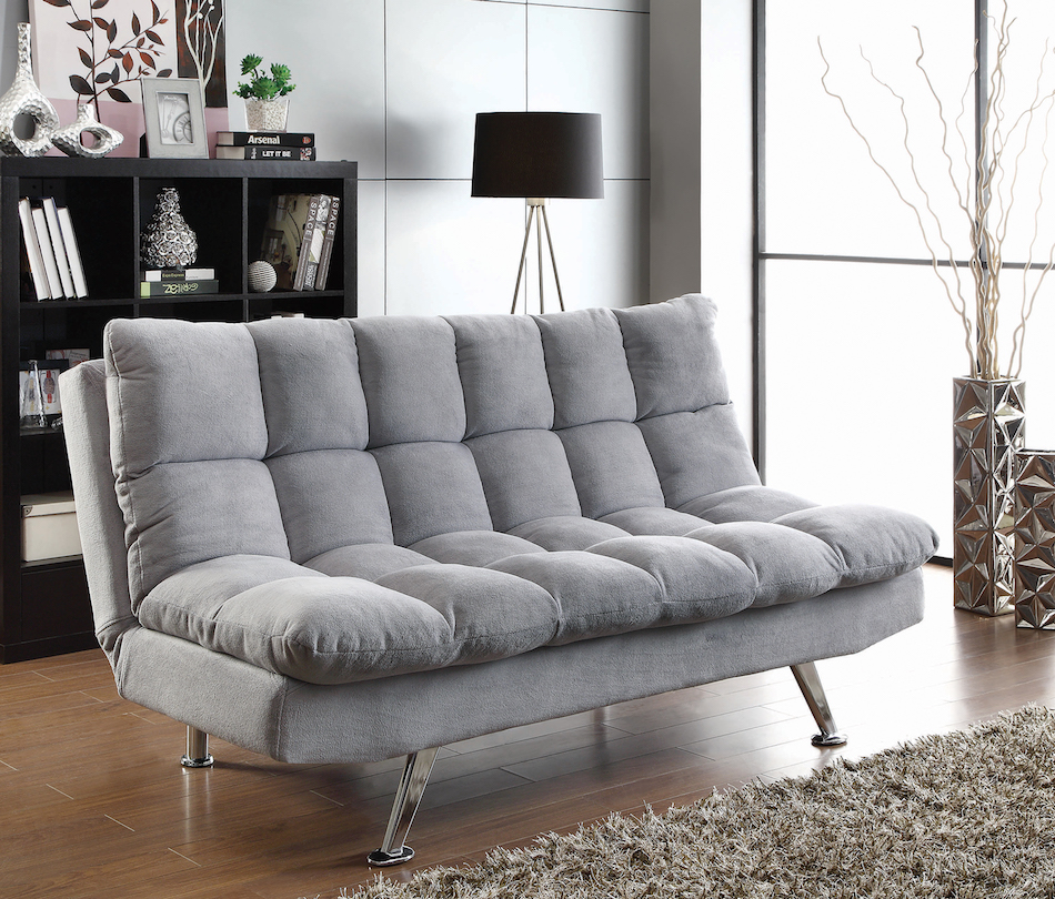 Datsun sofa bed in futon style with chrome legs