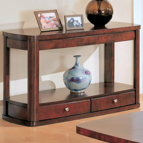 700249 evans contemporary sofa table with storage