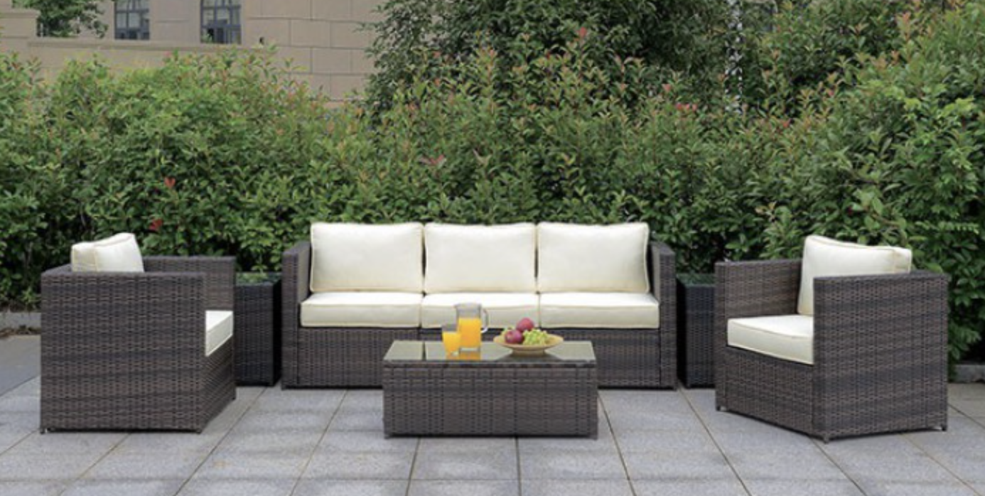 Sofa sectional + 2 arms chairs | 5 peice outdoor set