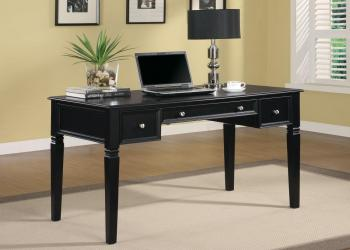 Desks classic table desk with keyboard drawer and power outlet