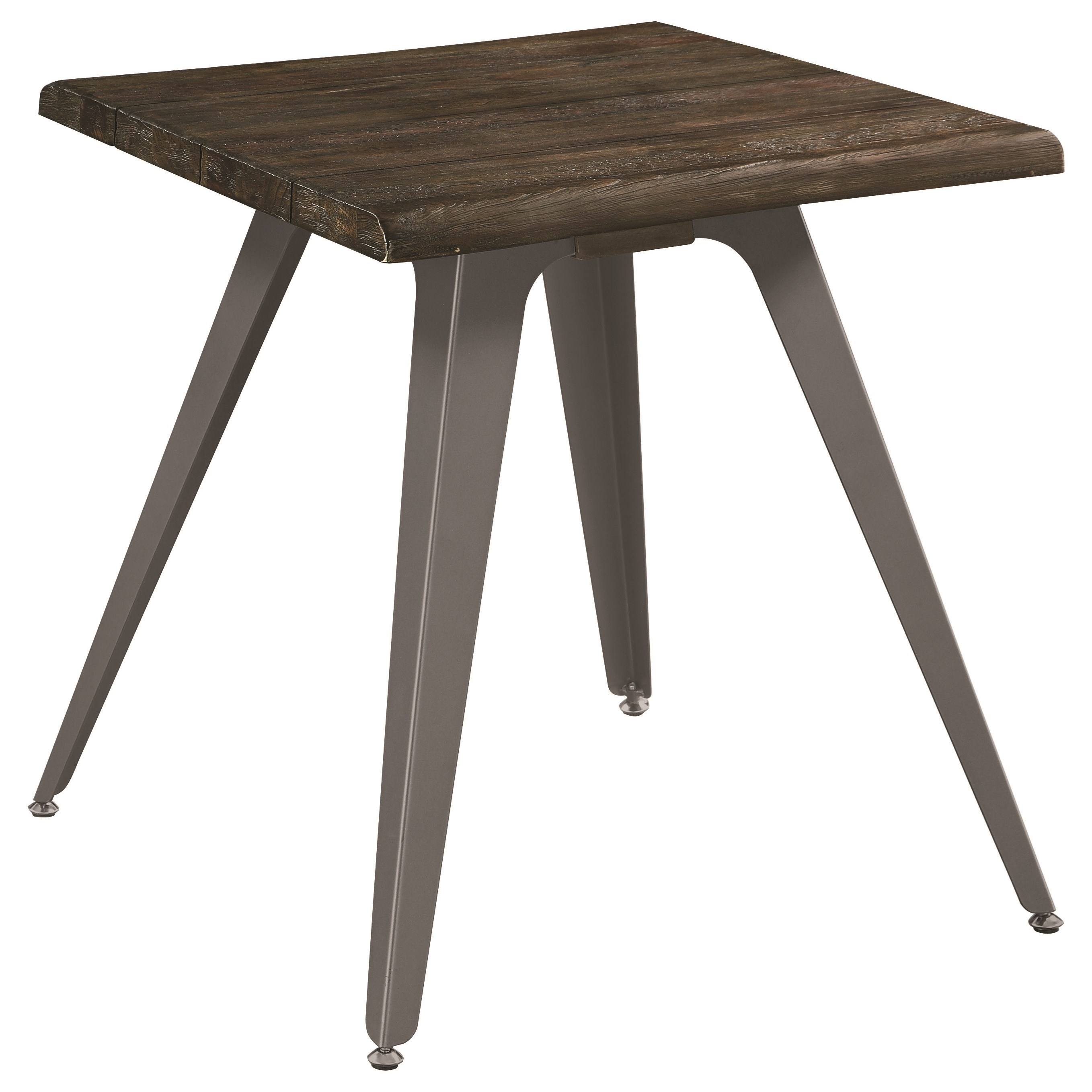 705817 rustic end table with live edge top