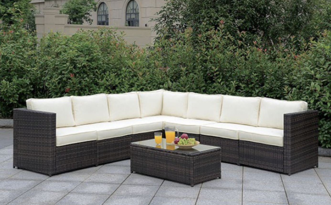 L shape sectional 7 peice outdoor set