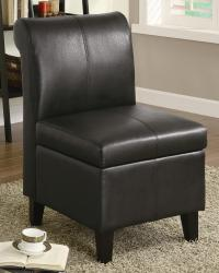 Accent seating armless stationary chair with wood feet