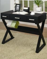 Desks casual 3-drawer desk with criss-cross legs