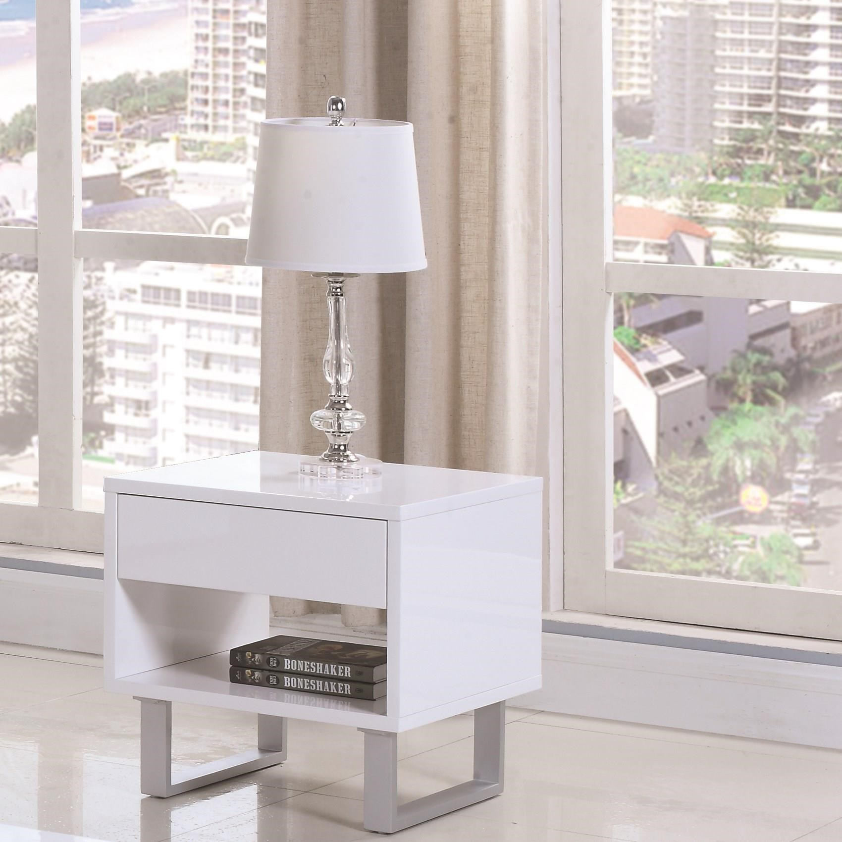 705697 rectangular end table with drawer and shelf