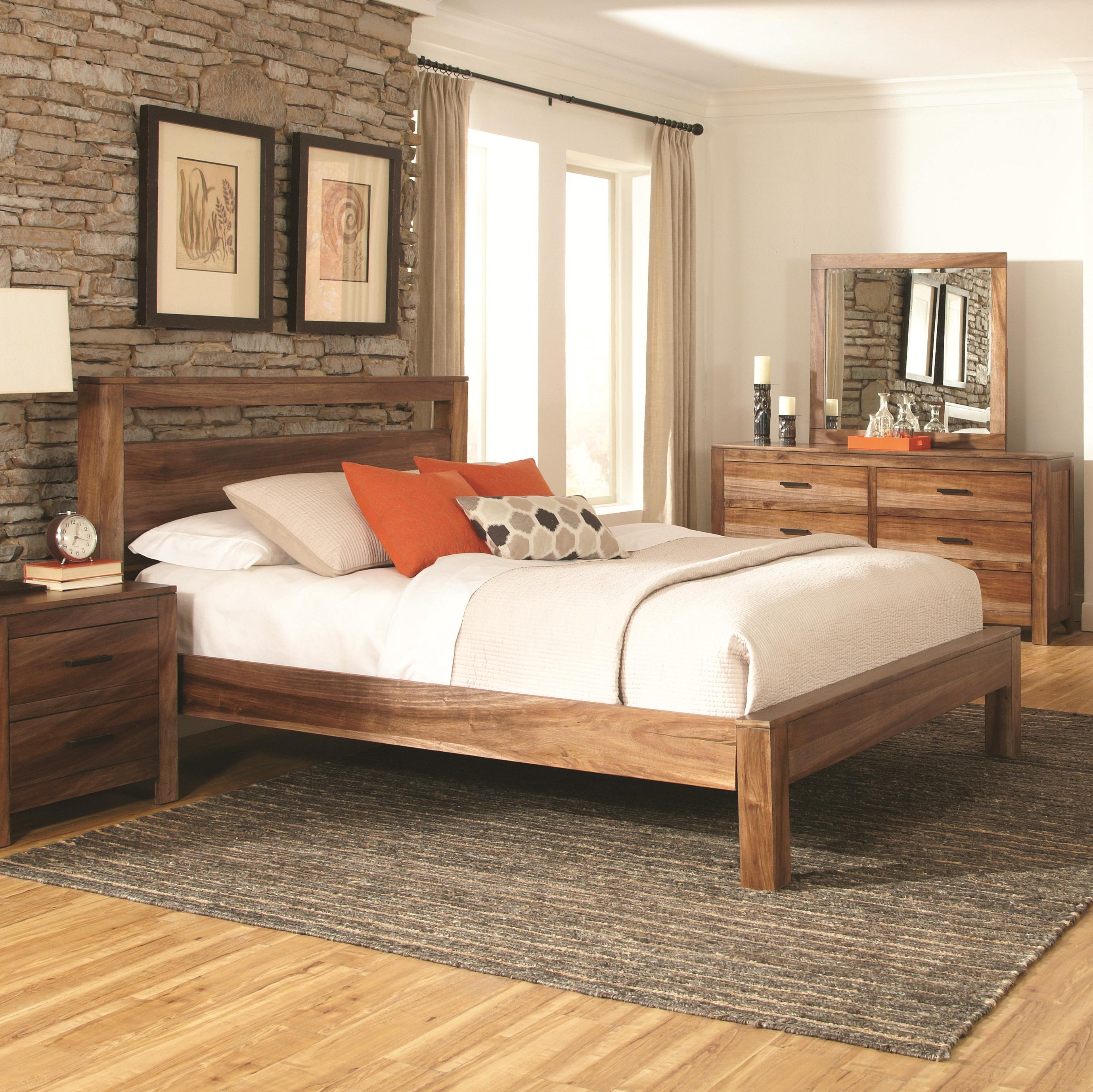 Queen 4 pc set, peyton (bed, dresser, nightstand, mirror)