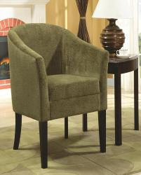 Accent seating accent chair with microvelvet upholstery