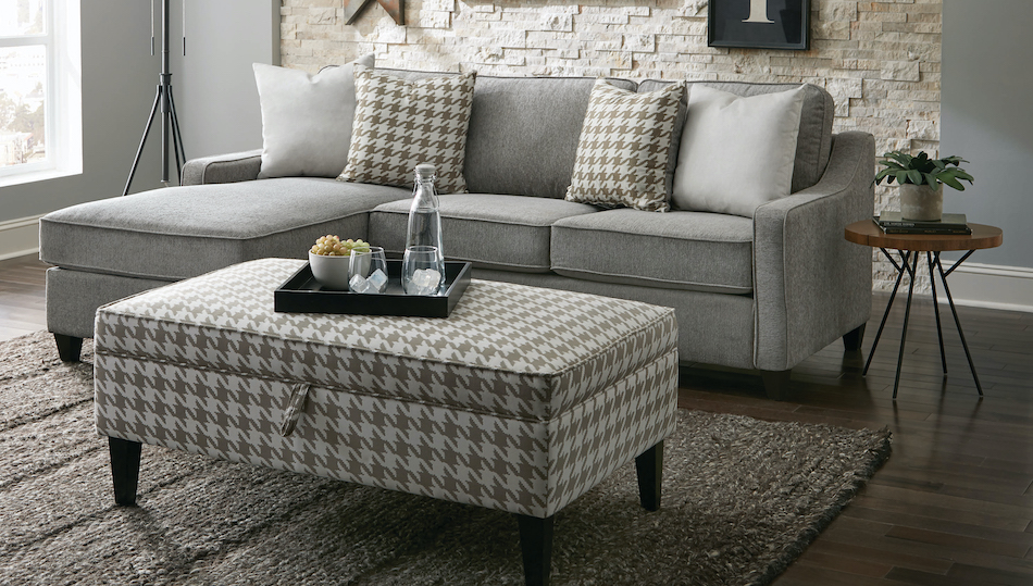 Mcloughlin upholstered sectional charcoal