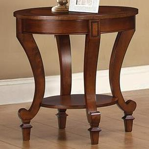 704407 end table with decorative wood inlay