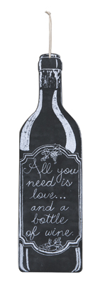 Love and wine - chalk hang-up