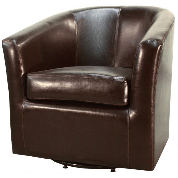 Hayden swivel bonded leather chair -multiple colors