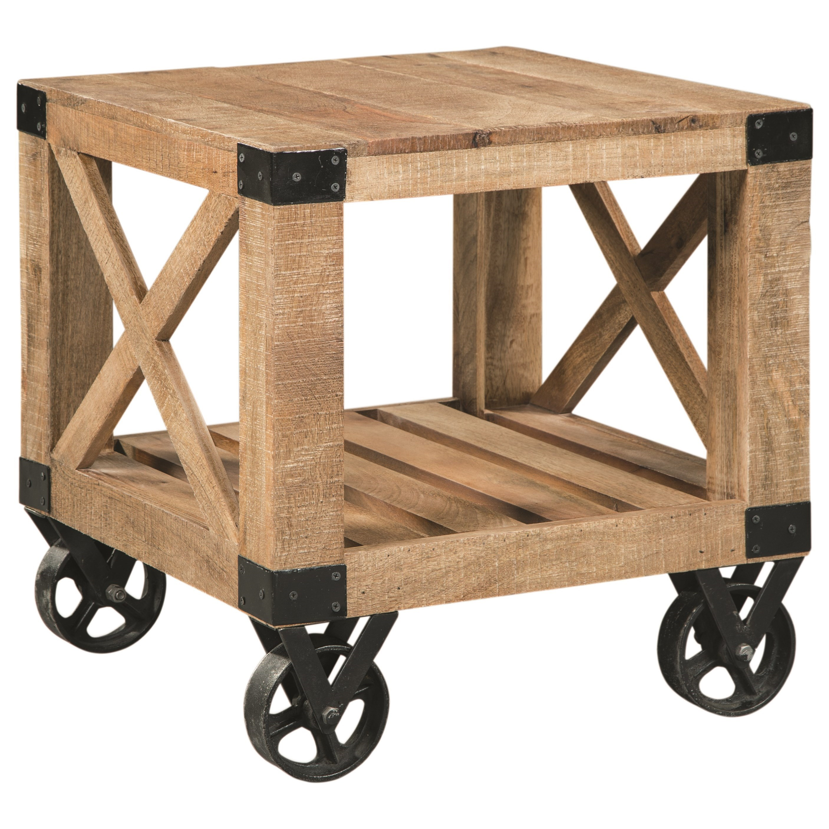 705547 industrial square end table