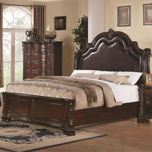 Queen 4 pc set, maddison (bed , dresser, nightstand, mirror)