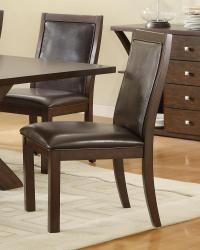 Rich brown faux leather chairs