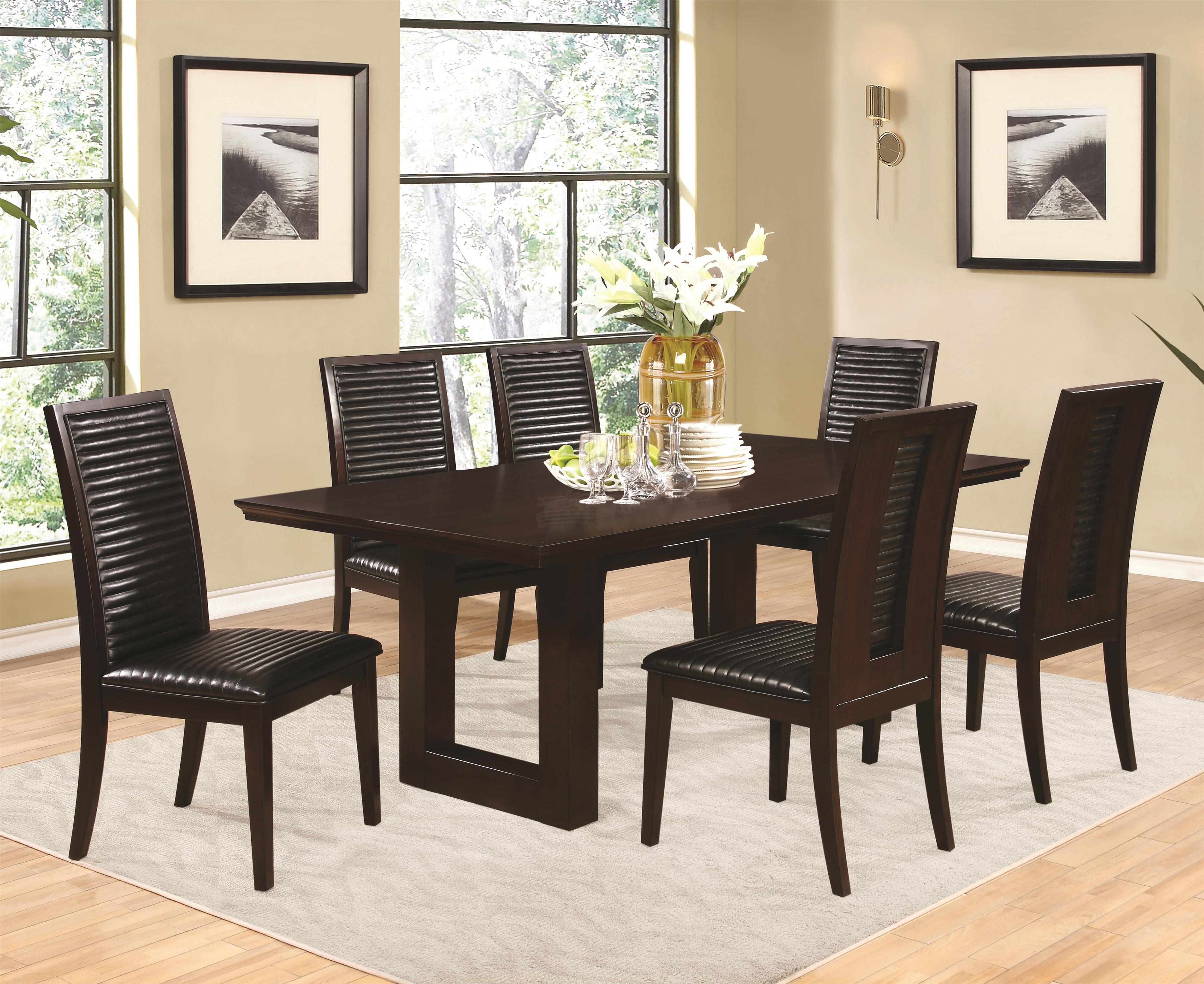 Chester 5 piece pedestal chair and side chairs set