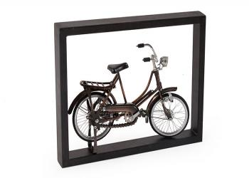 Mini bicycle on metal frame