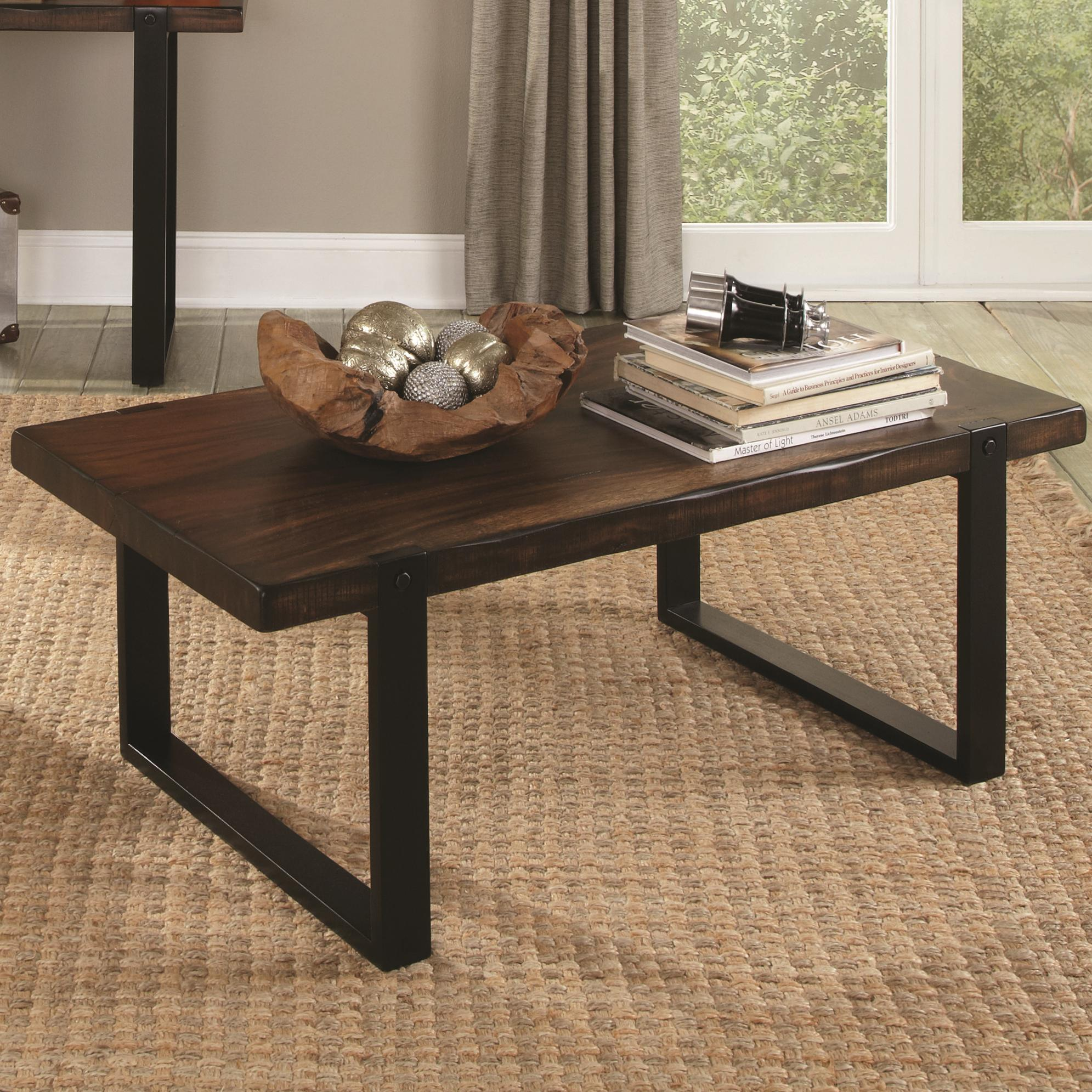703428 coffee table with rustic look