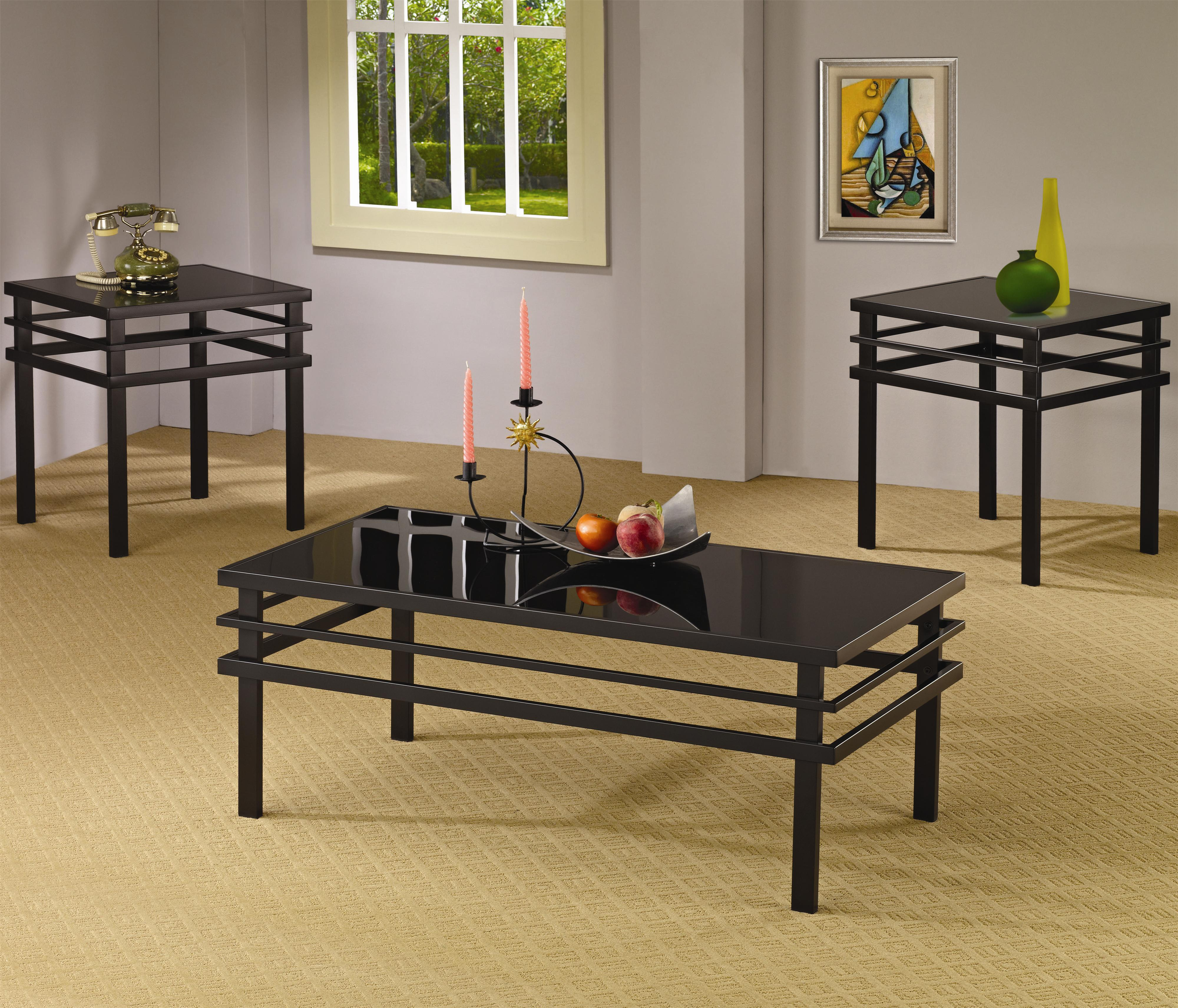 701524 3 piece occasional table sets modern coffee table and end table set