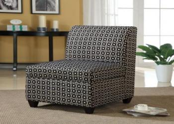 Black and white storage chair
