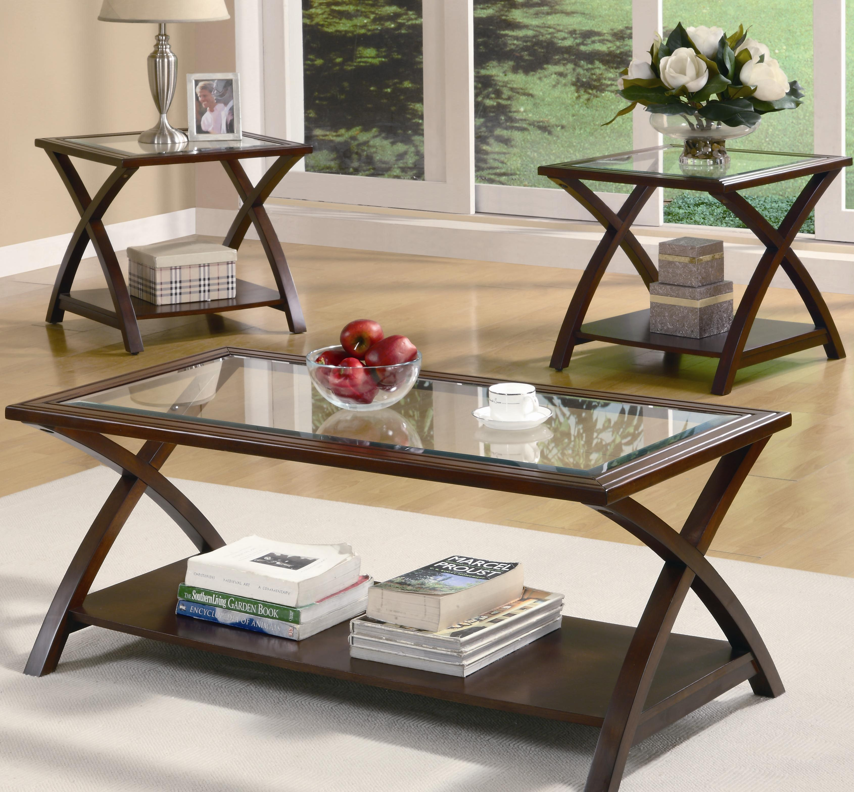 701527 3 piece occasional table sets coffee table and end table set