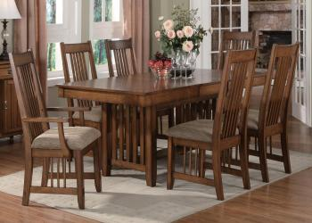Medium oak dining table