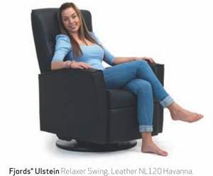 Fjords ulstein power swing relaxer sandel recliner