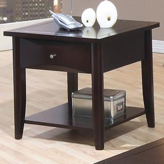 700967 whitehall end table w/ shelf & drawer