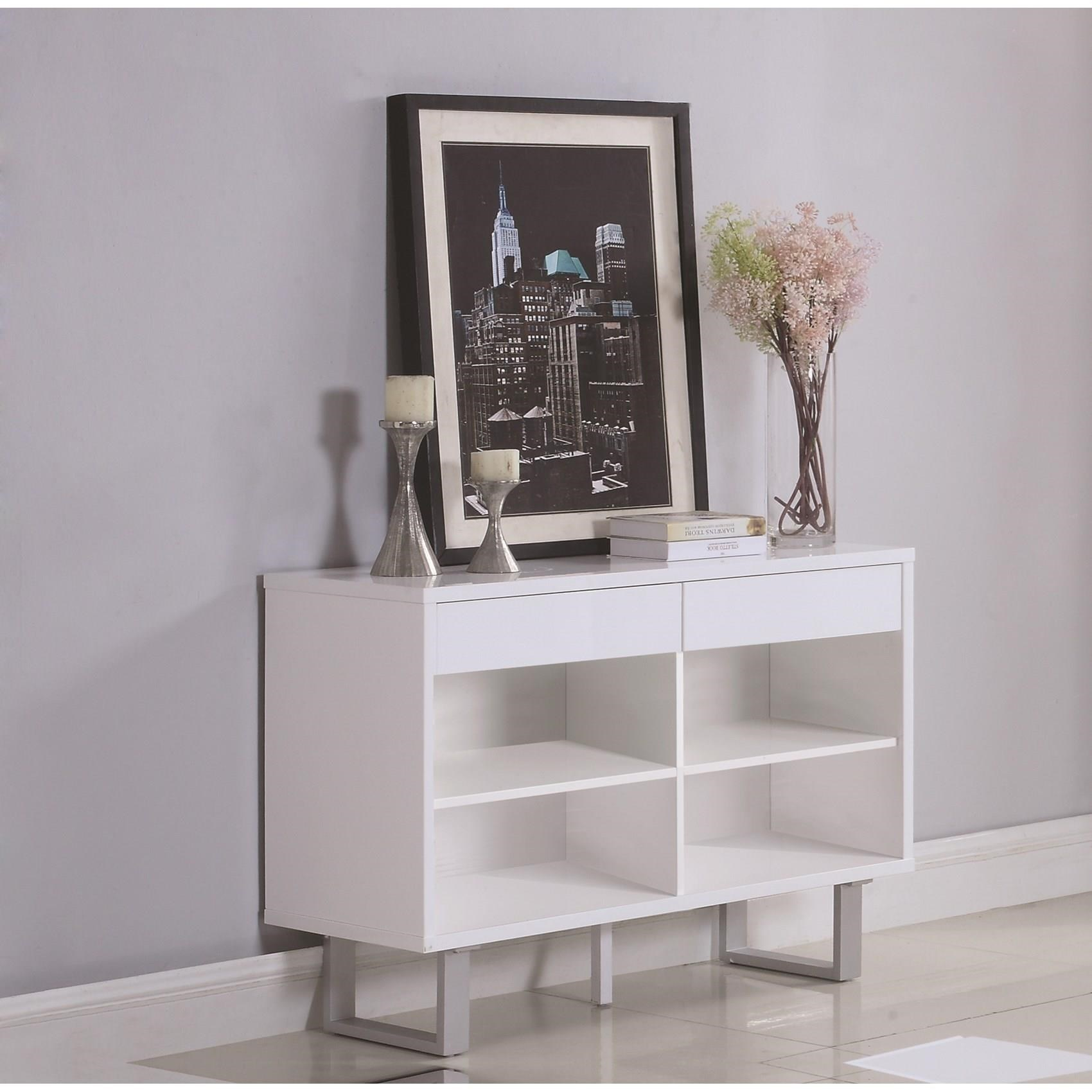 705699 sofa table with drawers and shelves