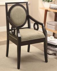 Accent seating geometric styled accent chair with circle motifs