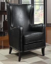 Accent seating wing accent chair with nailhead trim
