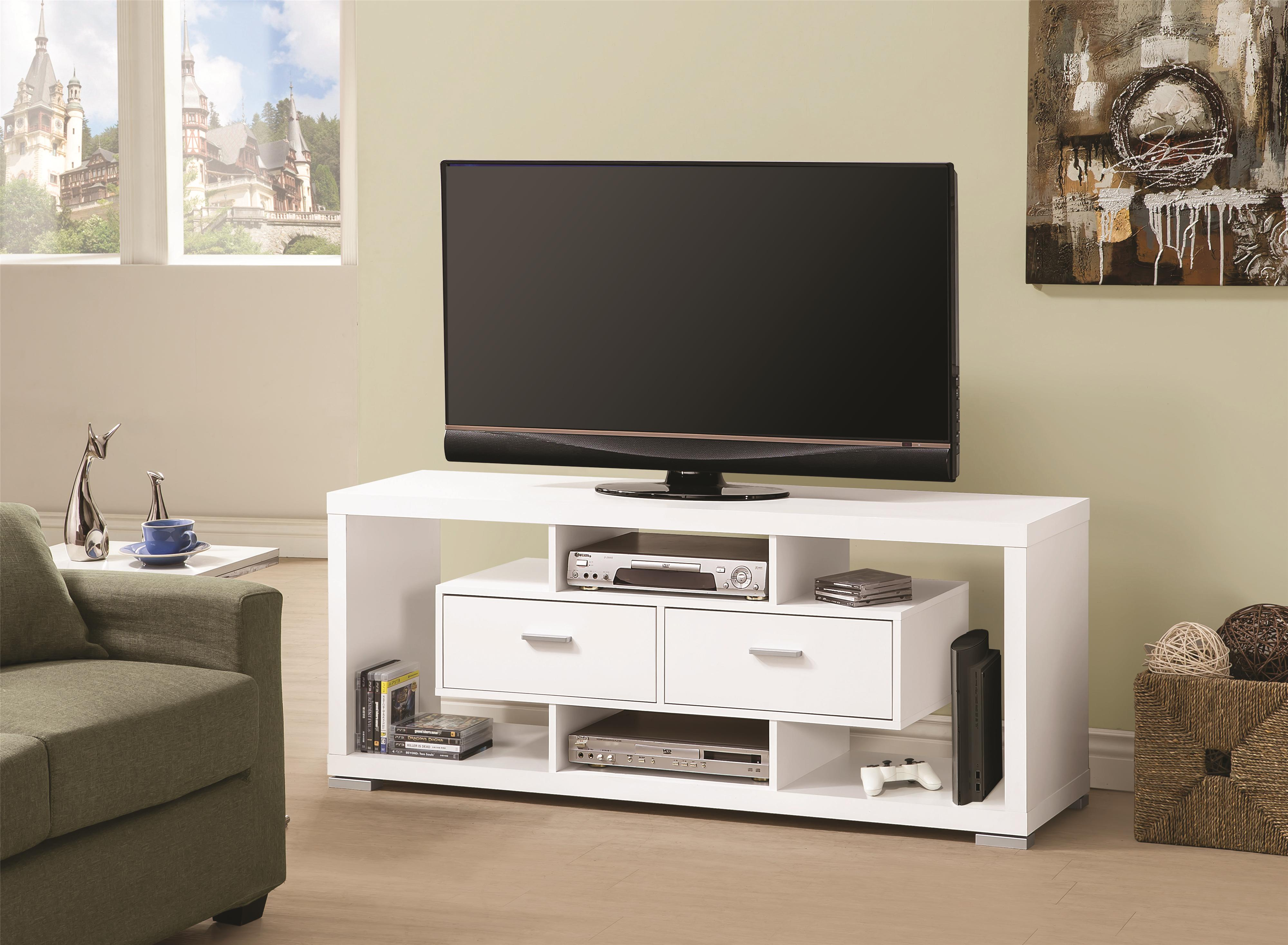 Tv Stands Contemporary Tv Console With Open Storage Cappuccino  # Contemporary Tv Stands