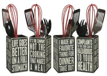 Utensil holder - box sign