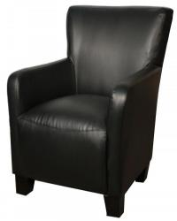 Bryan bonded leather arm chair black