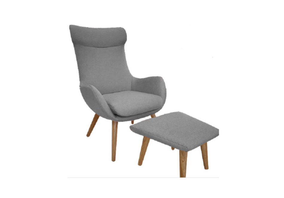 Fjords skagen chair high back wood legs