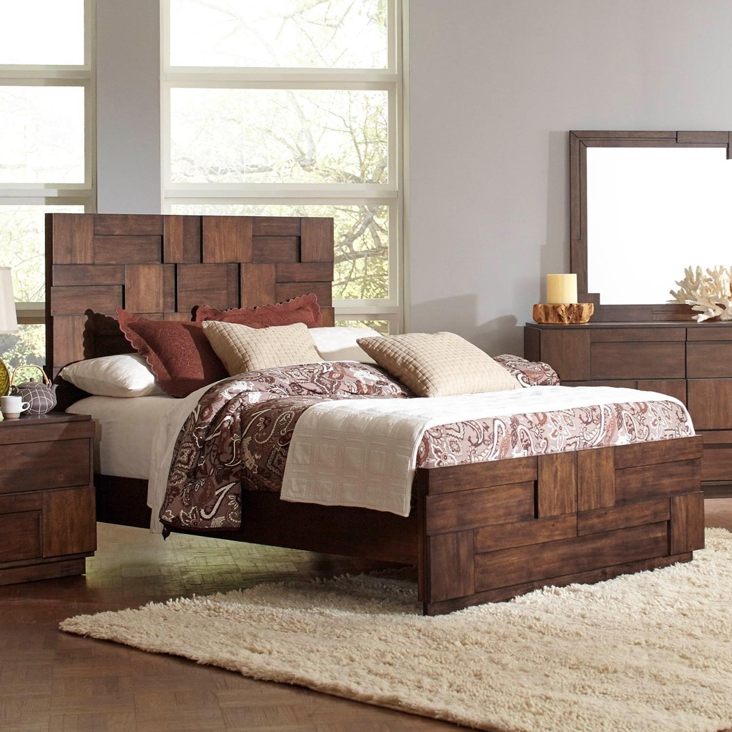 Queen 4 pc set, gallagher (bed, dresser, nightstand, mirror)