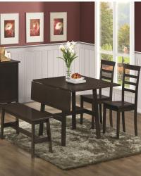 Casual dining table with drop leaf