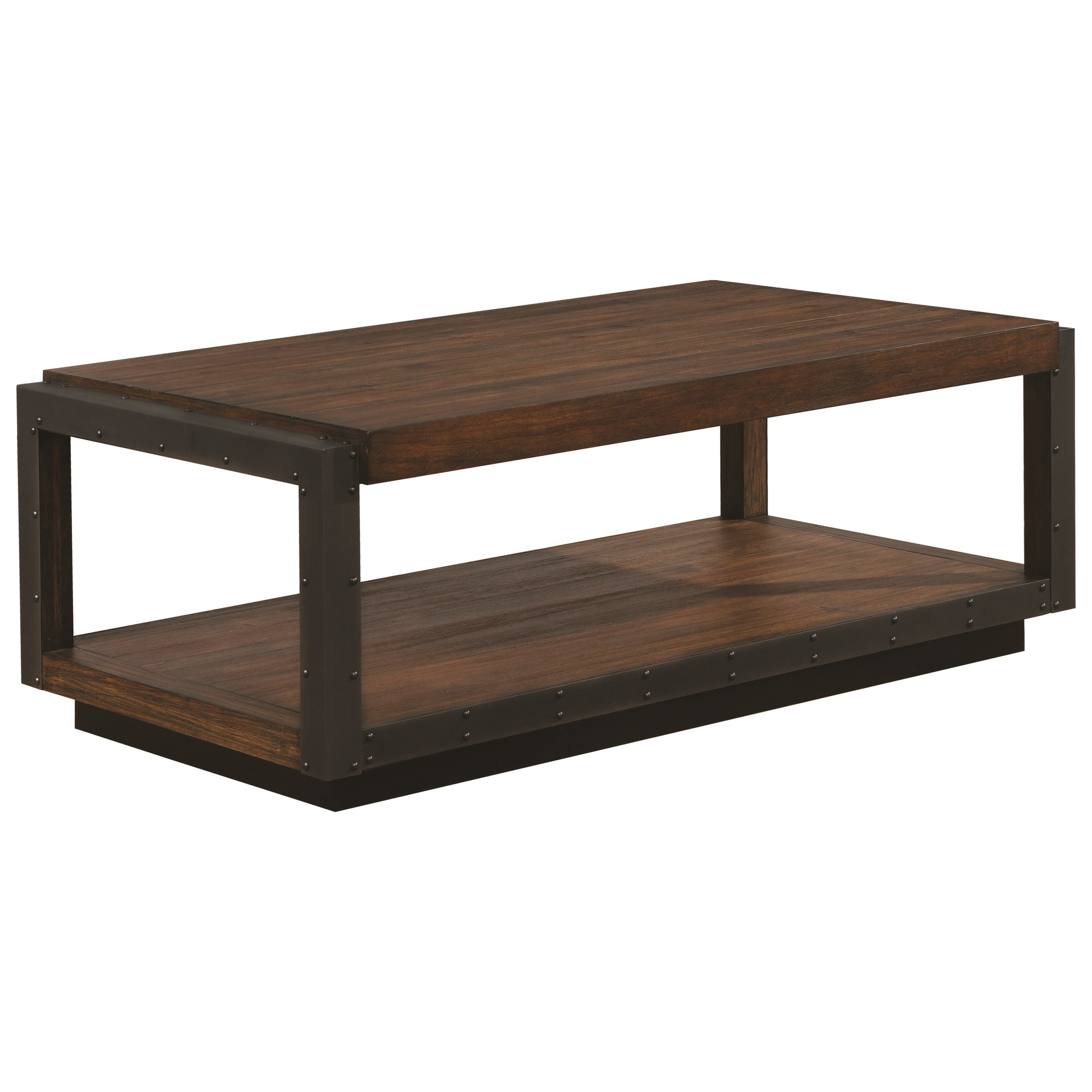 705658 industrial coffee table with black frame bana home decors