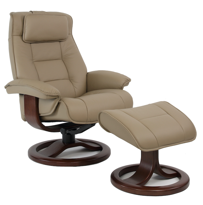 Fjords mustang power swing recliner small nl 130 stone
