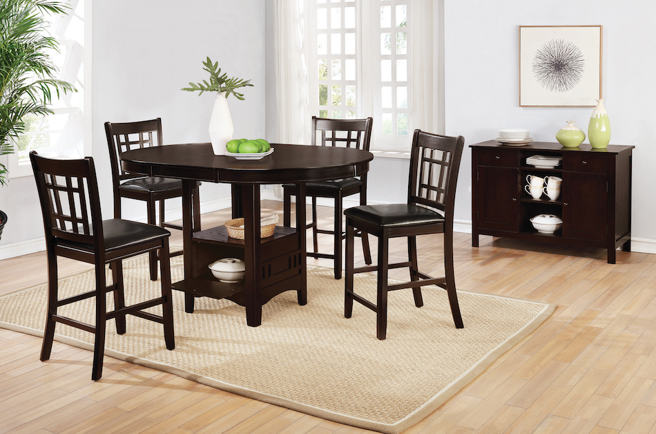 Lavon 5 piece counter table and chair set