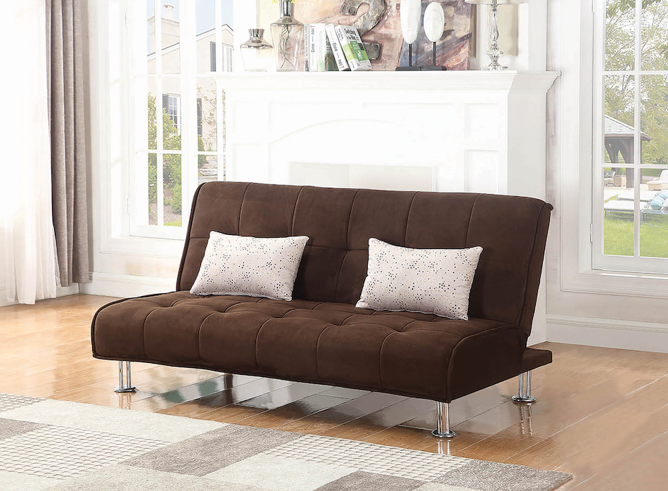 Traditional styled sofa bed