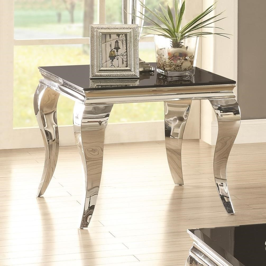 705017 glam end table with queen anne legs