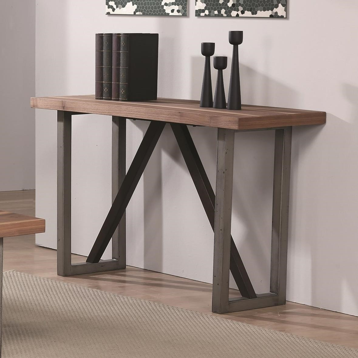705649 industrial sofa table